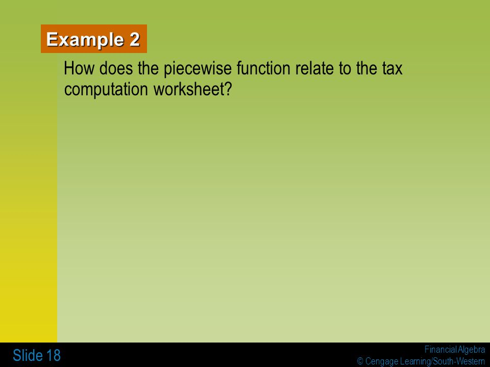 7 INCOME TAXES 71 Tax Tables Worksheets and Schedules ppt – Tax Computation Worksheet