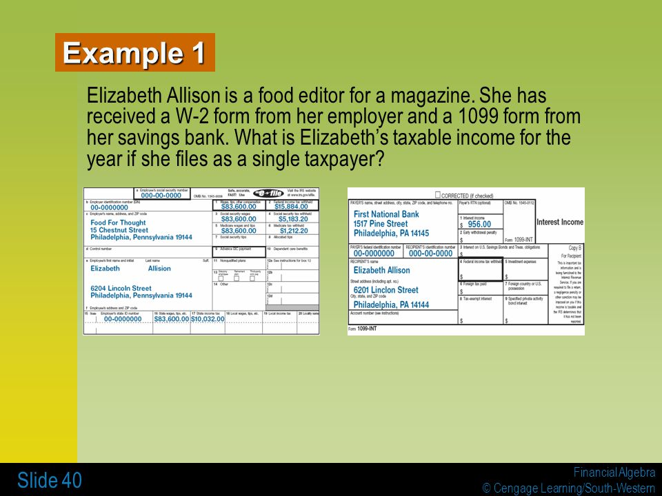 7 INCOME TAXES 7-1 Tax Tables, Worksheets, and Schedules - ppt ...