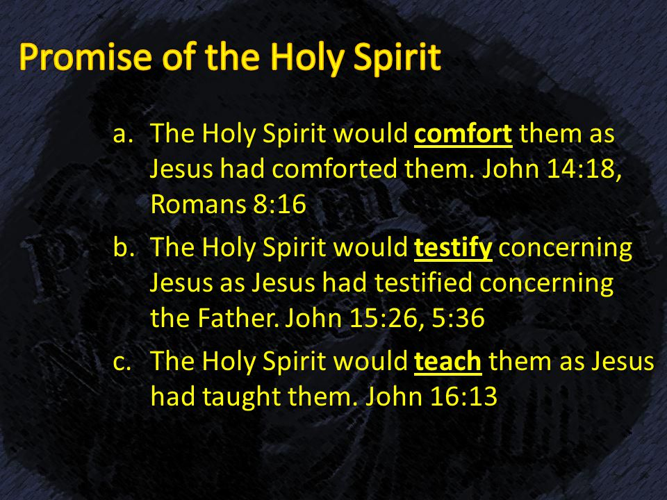 comfort and promise john 14 These promises inspire comfort promises for: comfort in the lord john 14:14 if ye shall ask any thing in my name, i will do it compiled by katie stewart.