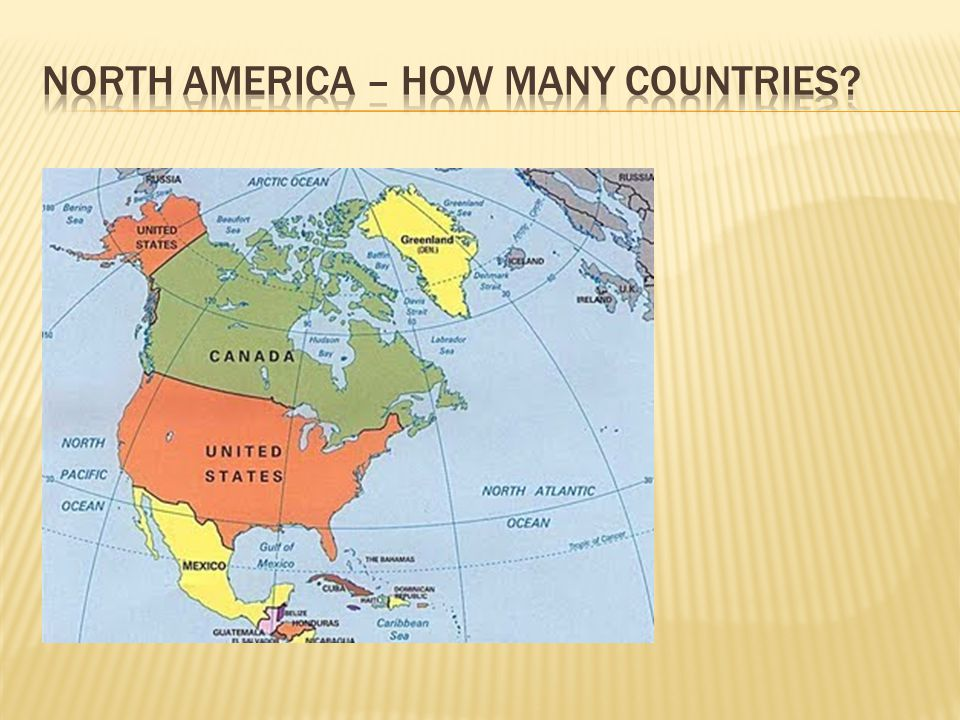 What Can You Say About The Geography In English Ppt Video - How many countries in north america
