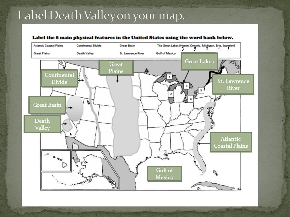 Label Death Valley on your map.