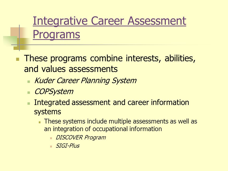 Assessment in Career Counseling - ppt download