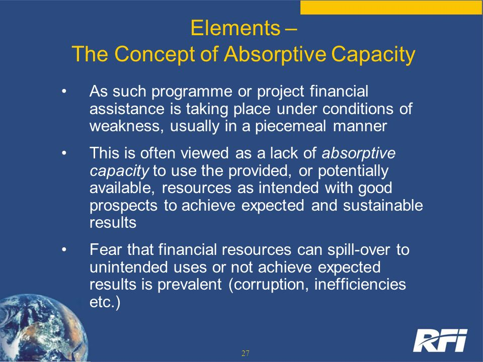 Elements – The Concept of Absorptive Capacity
