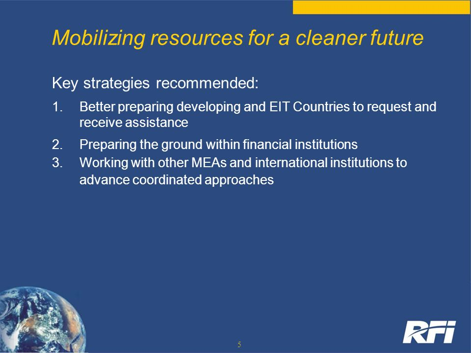 Mobilizing resources for a cleaner future