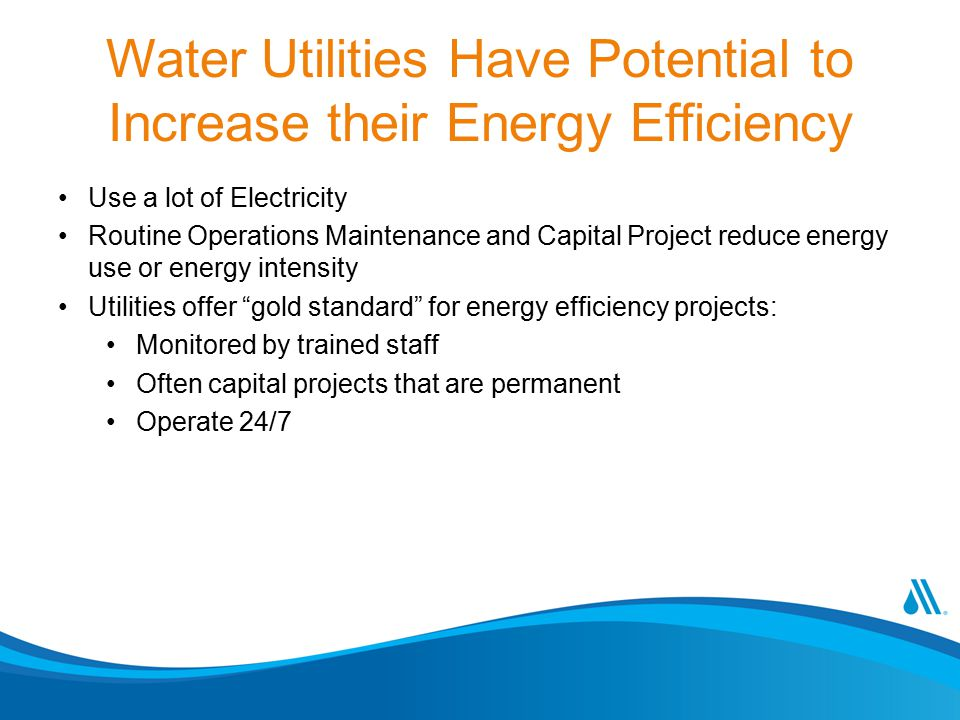 Water Utilities Have Potential to Increase their Energy Efficiency