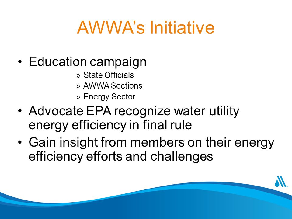 AWWA's Initiative Education campaign