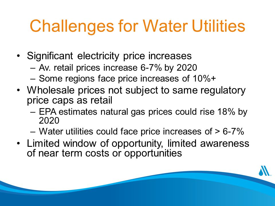 Challenges for Water Utilities