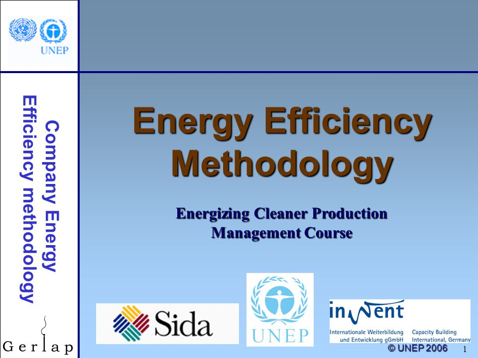 Energy efficiency methodology ppt download for Energy efficiency facts