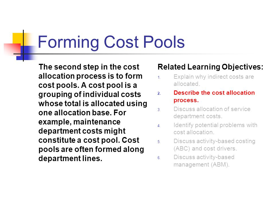 Forming Cost Pools