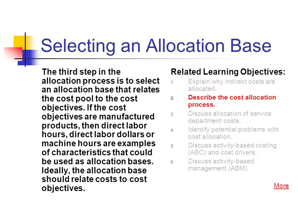 Selecting an Allocation Base