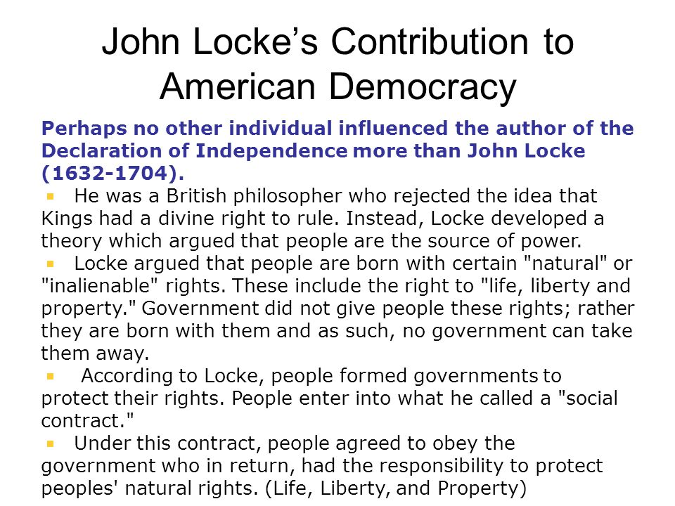 john locke helped create modern democracy essay Locke, haywood, and consent in the writings of john locke 2 liberal theory and the early novel draw upon and help to create a new language of.