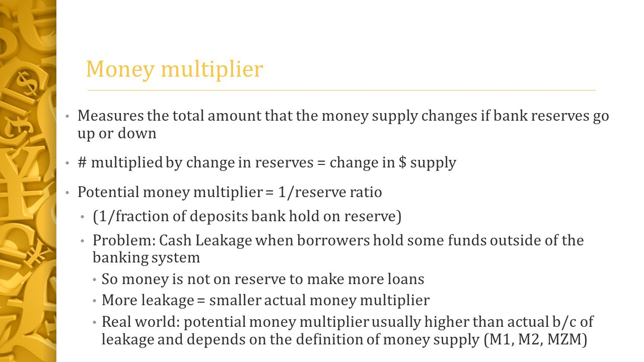 monetary money multiplier Money doesn't grow on trees, but it does grow in banks i explain how banks create money and how to use the money multiplier for more practice go to my webs.