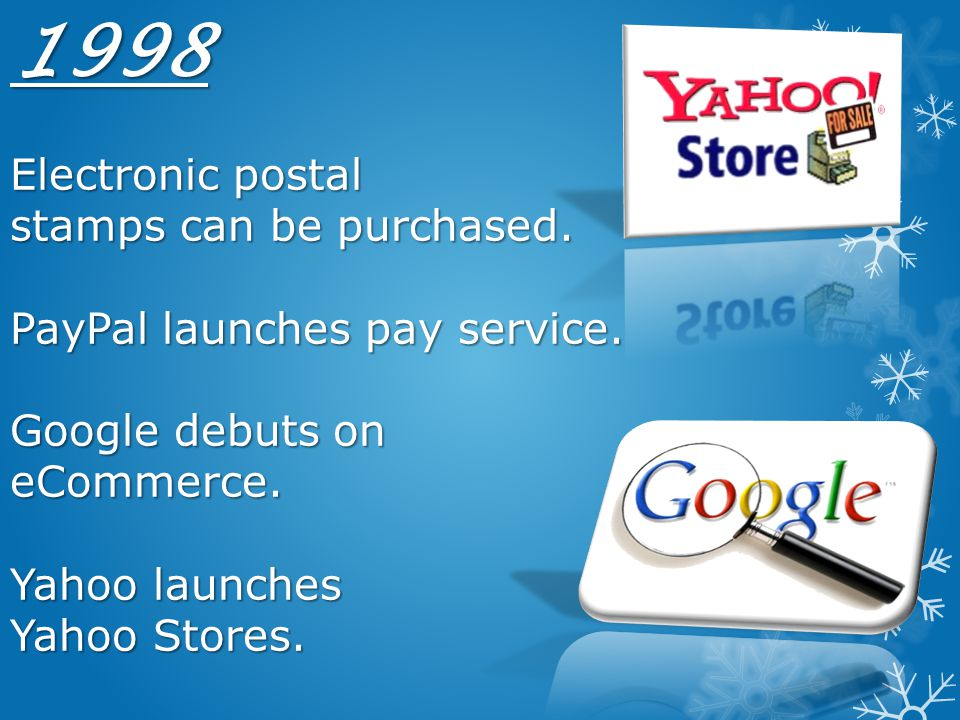 1998 Electronic postal stamps can be purchased