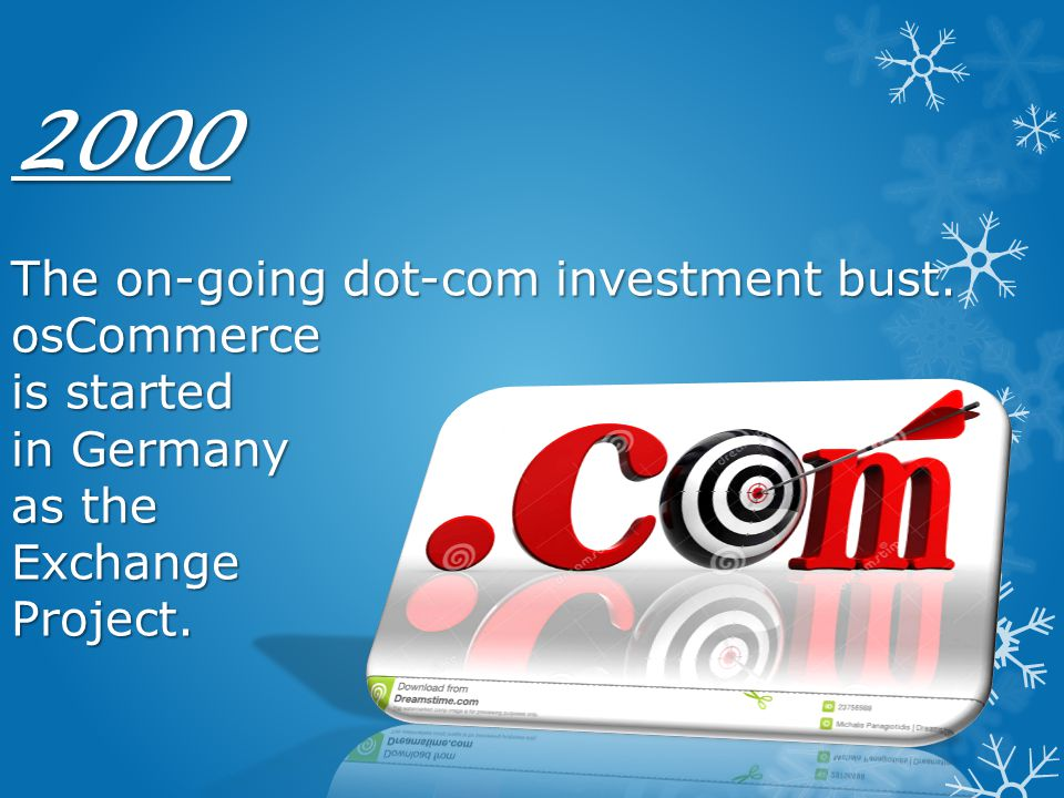 2000 The on-going dot-com investment bust