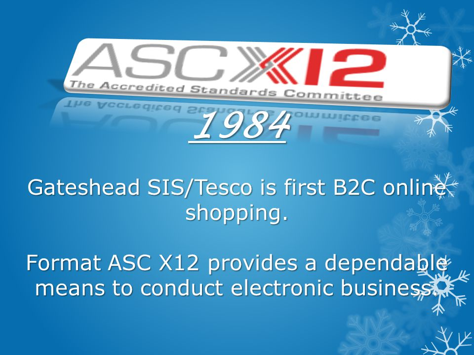1984 Gateshead SIS/Tesco is first B2C online shopping