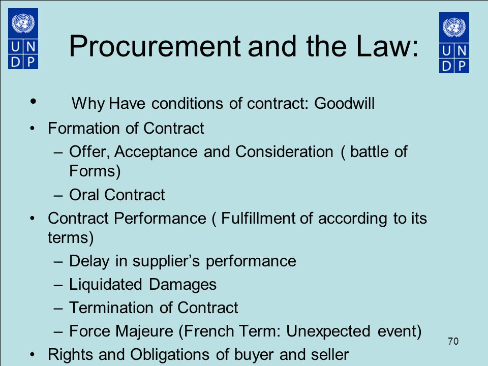 contract law terms of a contract