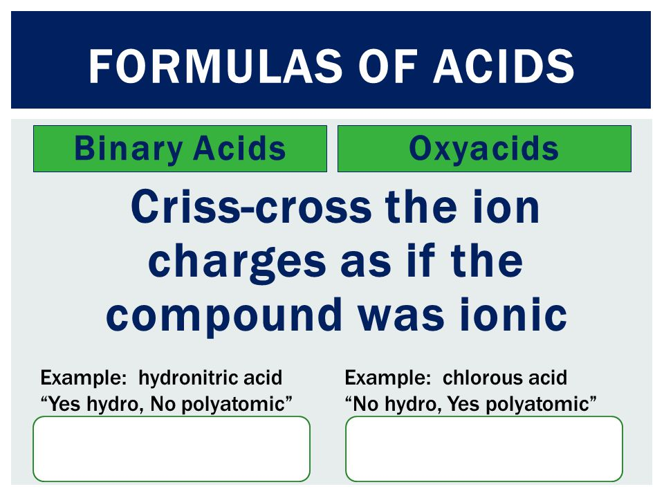 Criss-cross the ion charges as if the compound was ionic