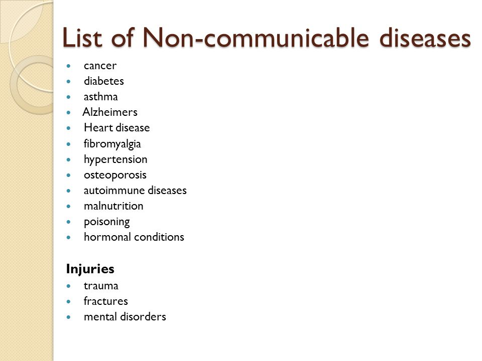 Noncommunicable vs Communicable Diseases - ppt video ...