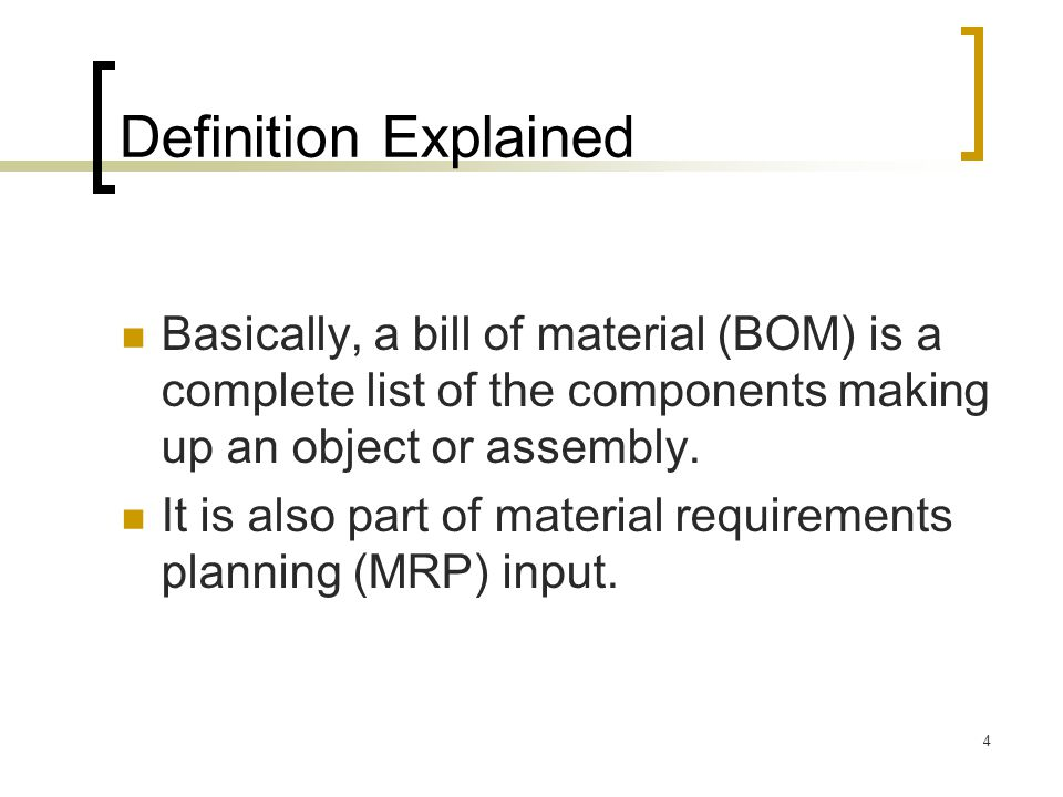 how to change the materials in a bom
