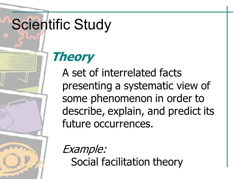 understanding the social facilitation theory Social facilitation occurs not only in the presence of a co-actor but also in the presence of a passive spectator/audience this is known as the audience effect, surprisingly dashiell (1935) found that the presence of an audience facilitated subjects' multiplication performance by increasing the number of simple multiplications completed.
