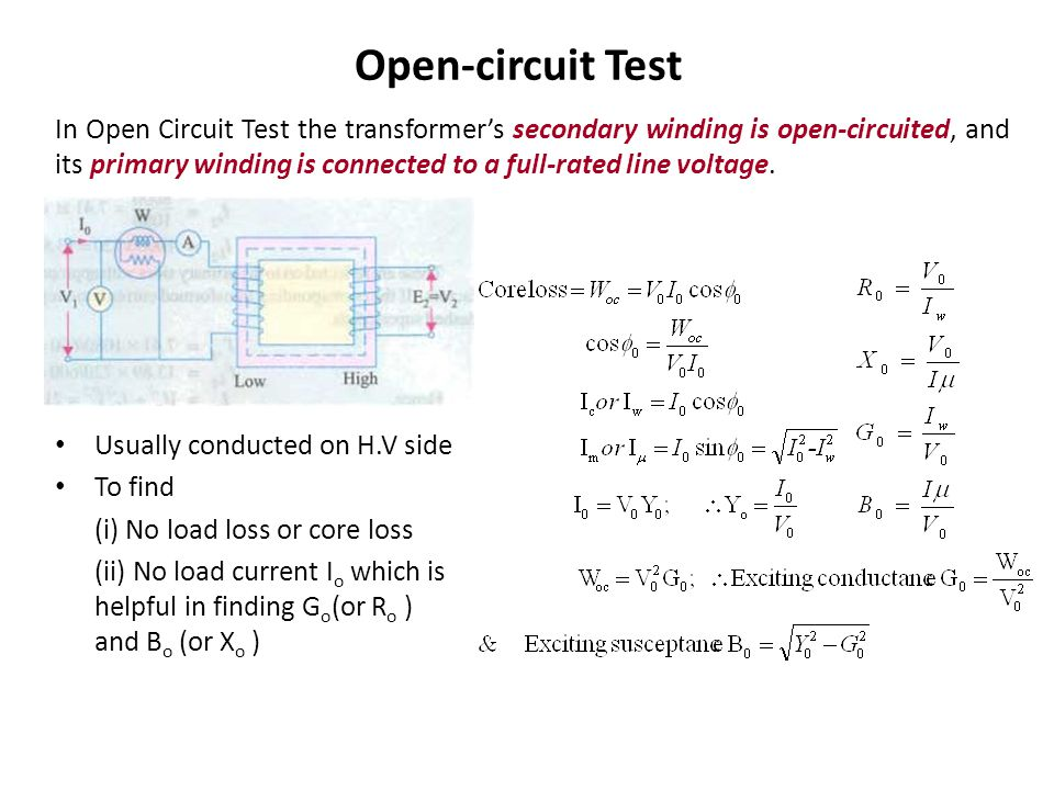 Open Closed Circuit Testers : Transformers ppt video online download