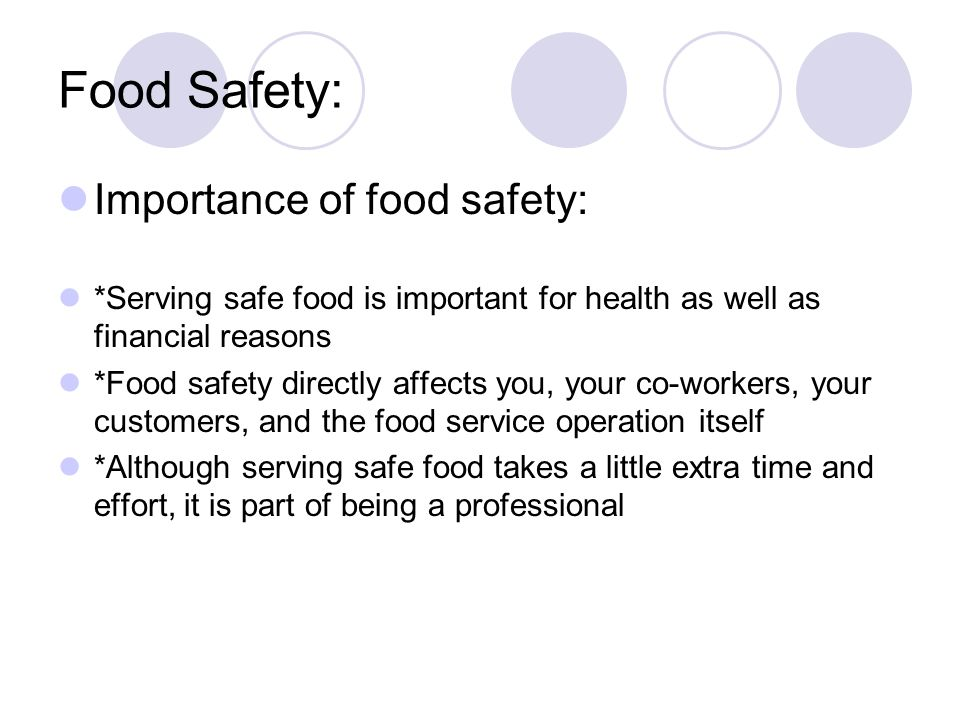 importance of food safety essay Food safety essay food safety essay tx dshs-approved & no final examthe following essay on food safety will discuss about the importance of food safety and why.