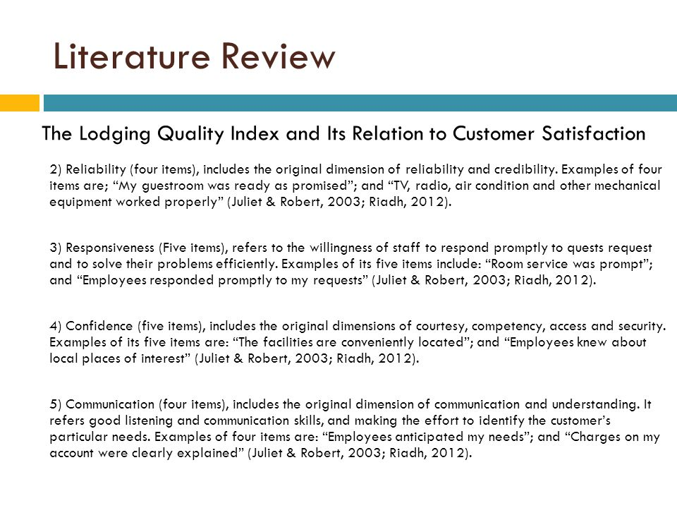 Literature review on customer satisfaction in insurance sector