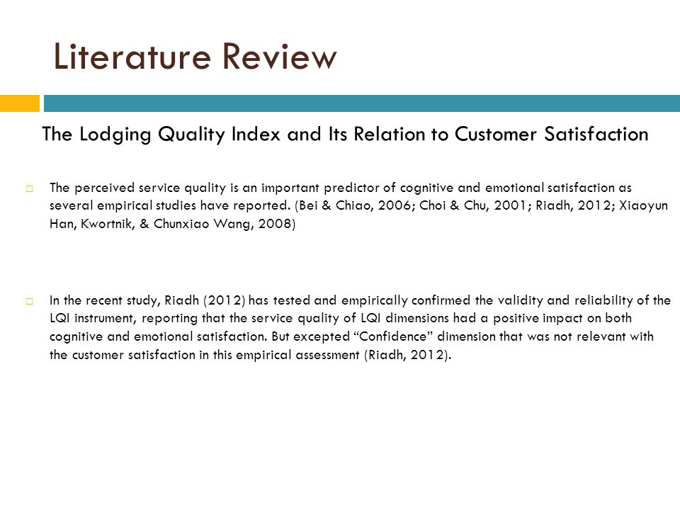 A literature review on customer satisfaction