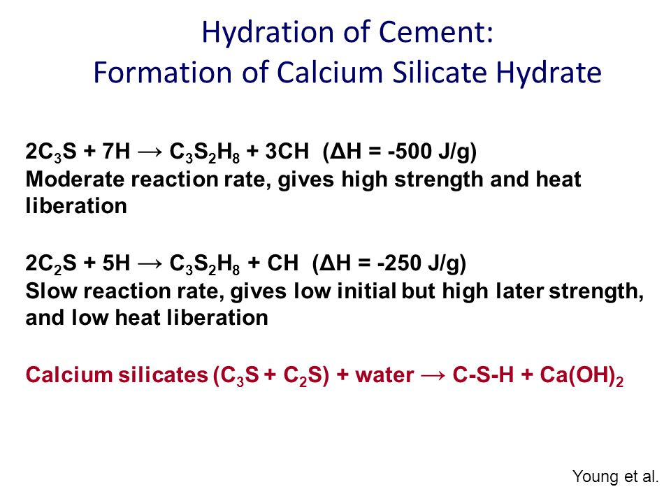 Calcium Silicate Hydrate : Lime one of the oldest manufactured building materials