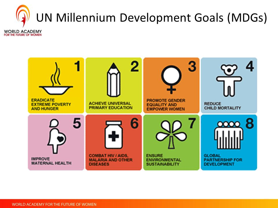 3rd millennium development goal The eight millennium development goals (mdgs) promised to significantly reduce extreme poverty by 2015.