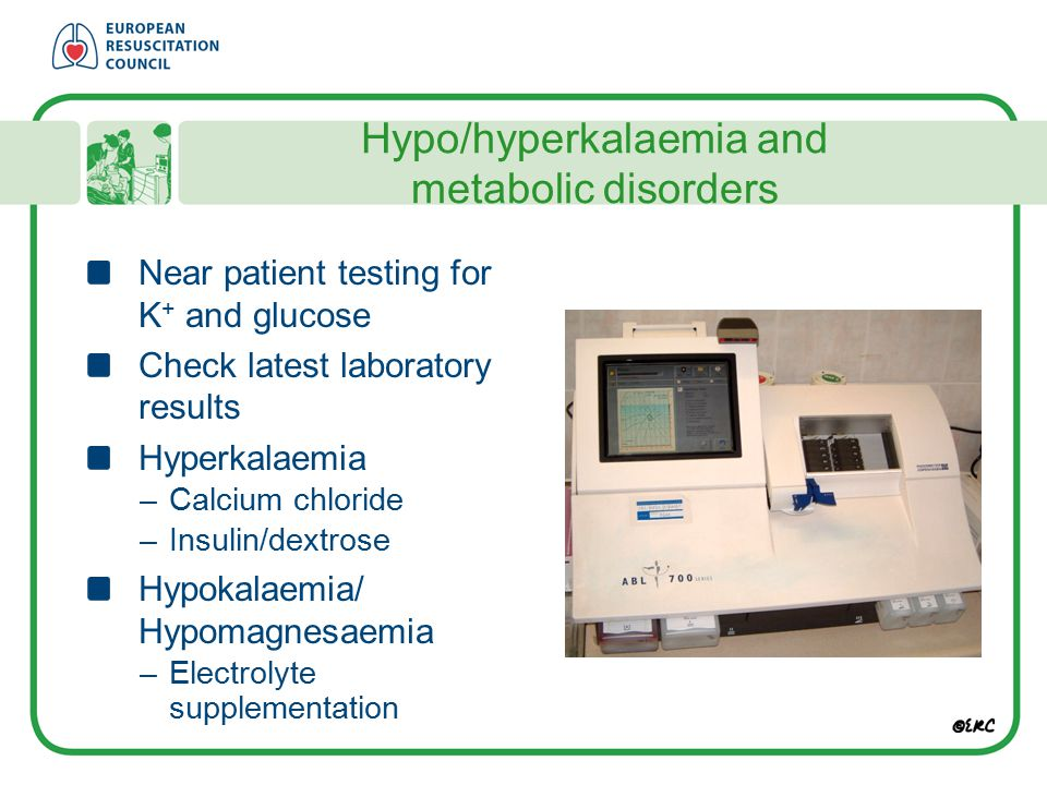 Hypo/hyperkalaemia and metabolic disorders