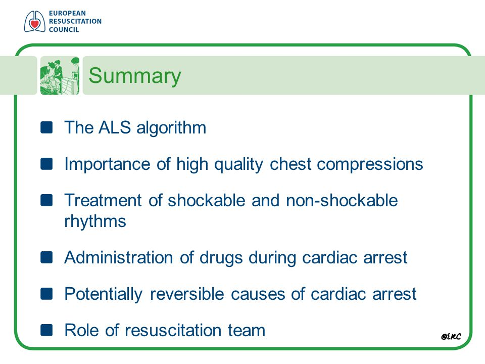 Summary The ALS algorithm