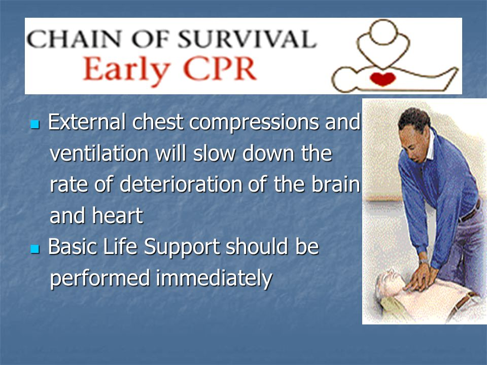 External chest compressions and