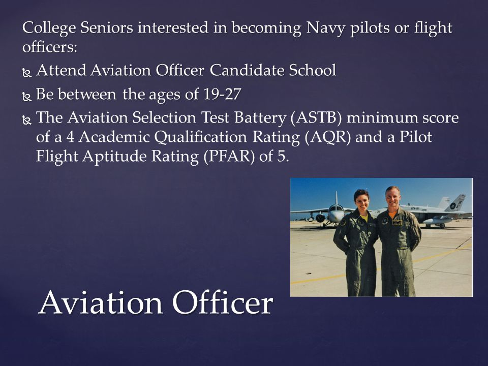 officer candidate exam The officer candidate tests include the armed services vocational aptitude battery (asvab), air force officer qualifying test (afoqt), and aviation selection test battery (astb.