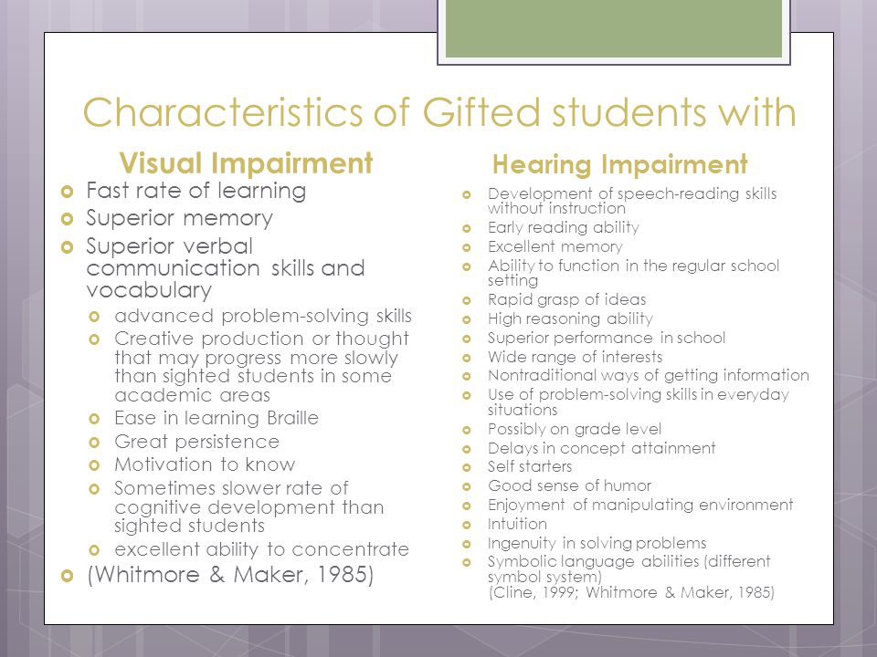 Gifted And Talented Cognitive Characteristics Gift Ftempo
