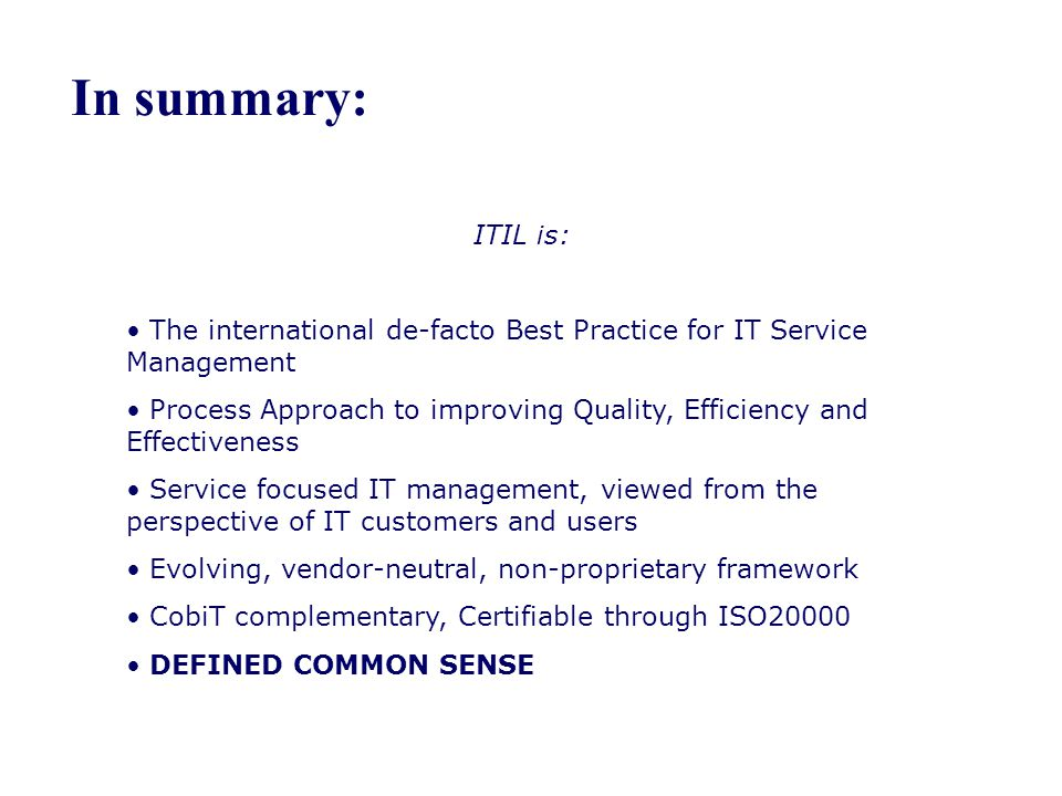 mock test information technology infrastructure library The itil (information technology infrastructure library) framework is designed to standardize the selection, planning, delivery and support of it services to a business the goal is to improve efficiency and achieve predictable service levels the itil framework enables it to be a business service .