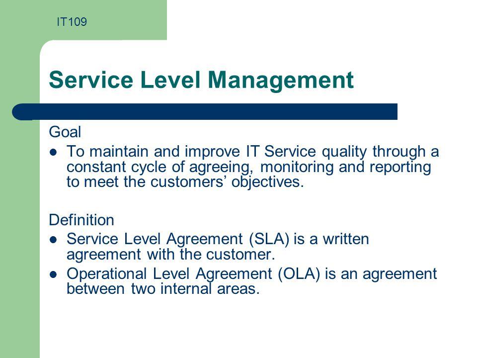 It Service Management It Service Level Management