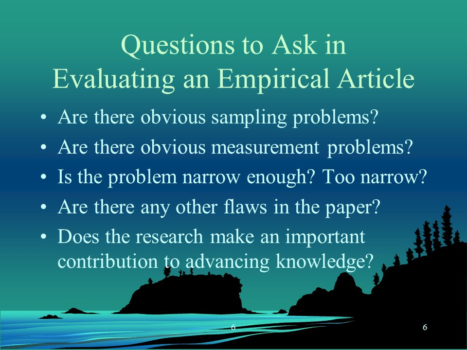 can i ask questions in a research paper