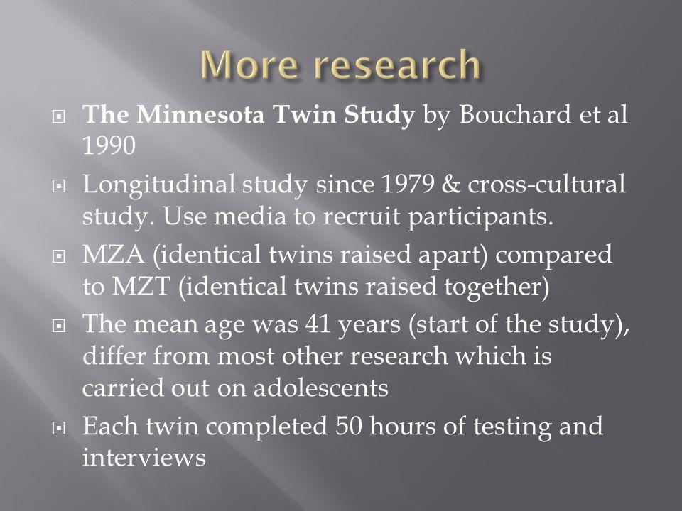Minnesota twin study aim