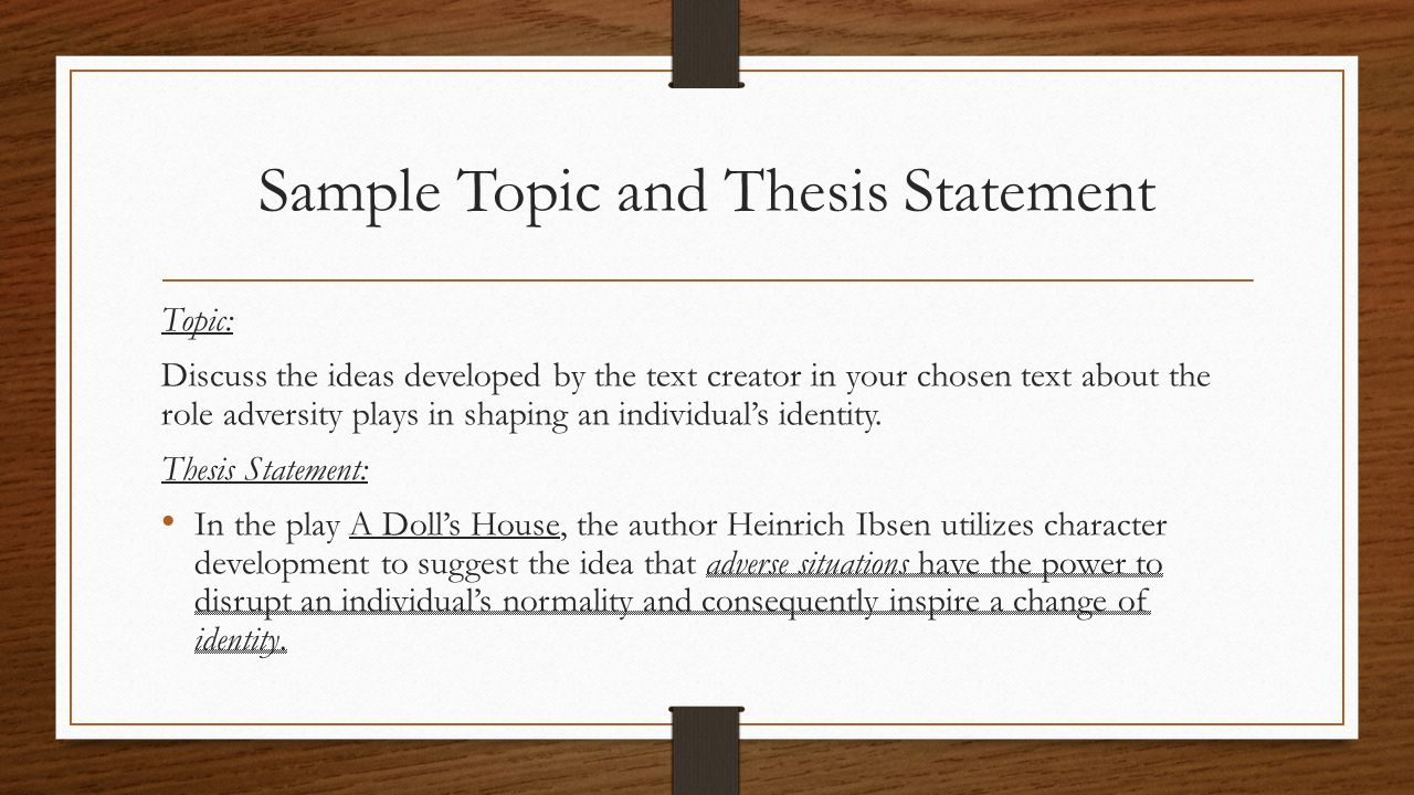 Thesis Statements - PowerPoint PPT Presentation