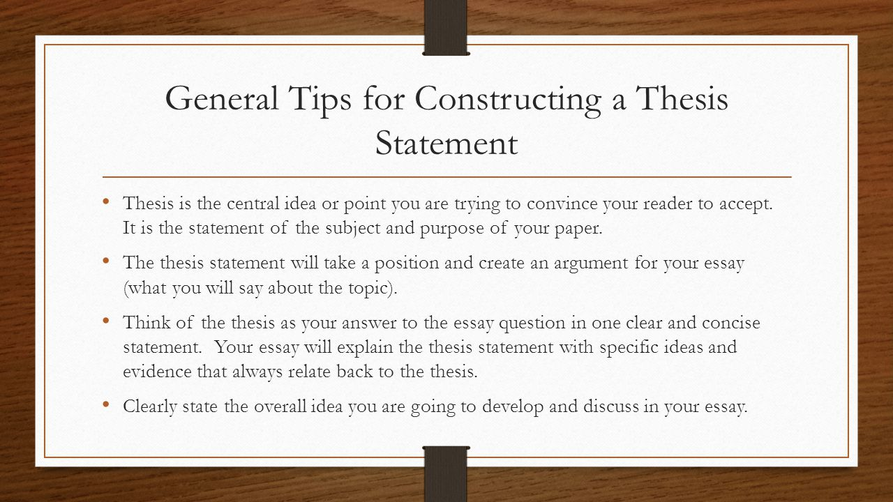 tips for writing a thesis introduction 1 general tips about writing style  and is a avluable lesson for potential thesis writers ouy will get a lower grade if  you can motivate them in the introduction.