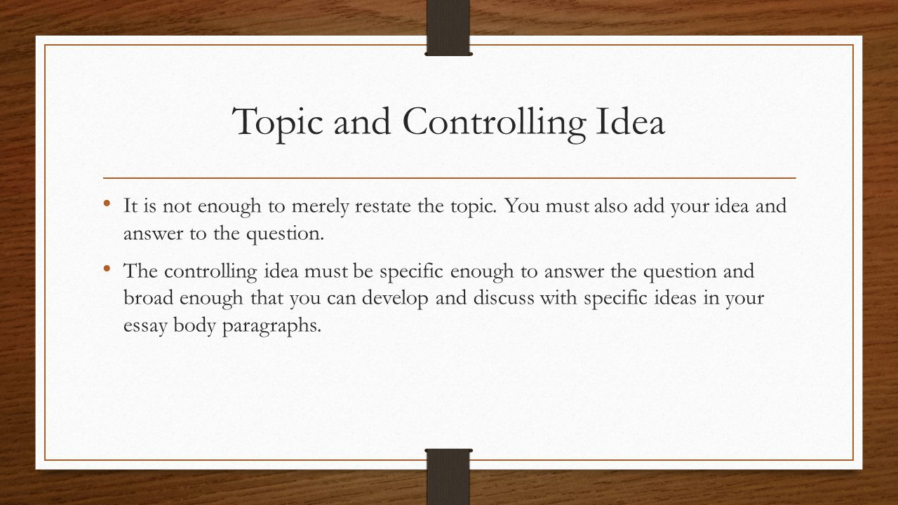 constructing powerful thesis statements ppt video online  topic and controlling idea