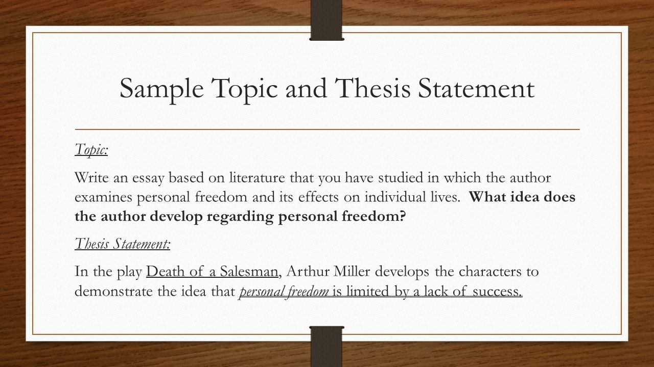 Powerful thesis statements
