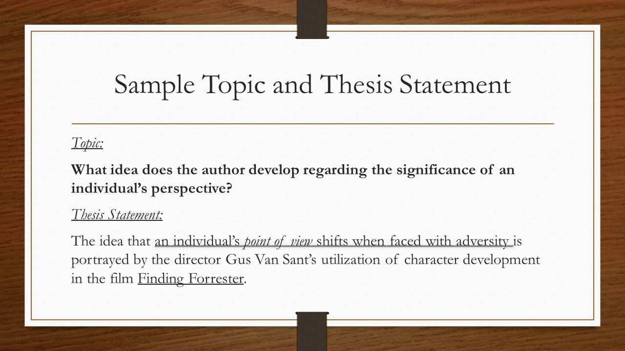 finding thesis statement Refine and polish the thesis statement  sometimes your thesis needs to evolve  as you develop new insights, find new evidence, or take a different approach to.
