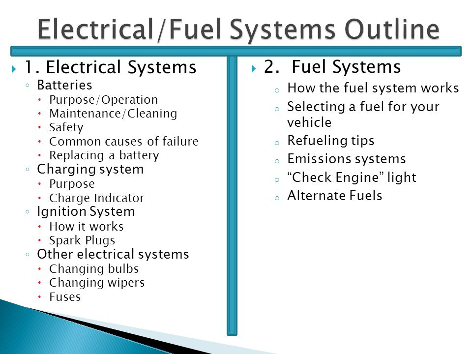 Electrical/Fuel Systems - ppt download