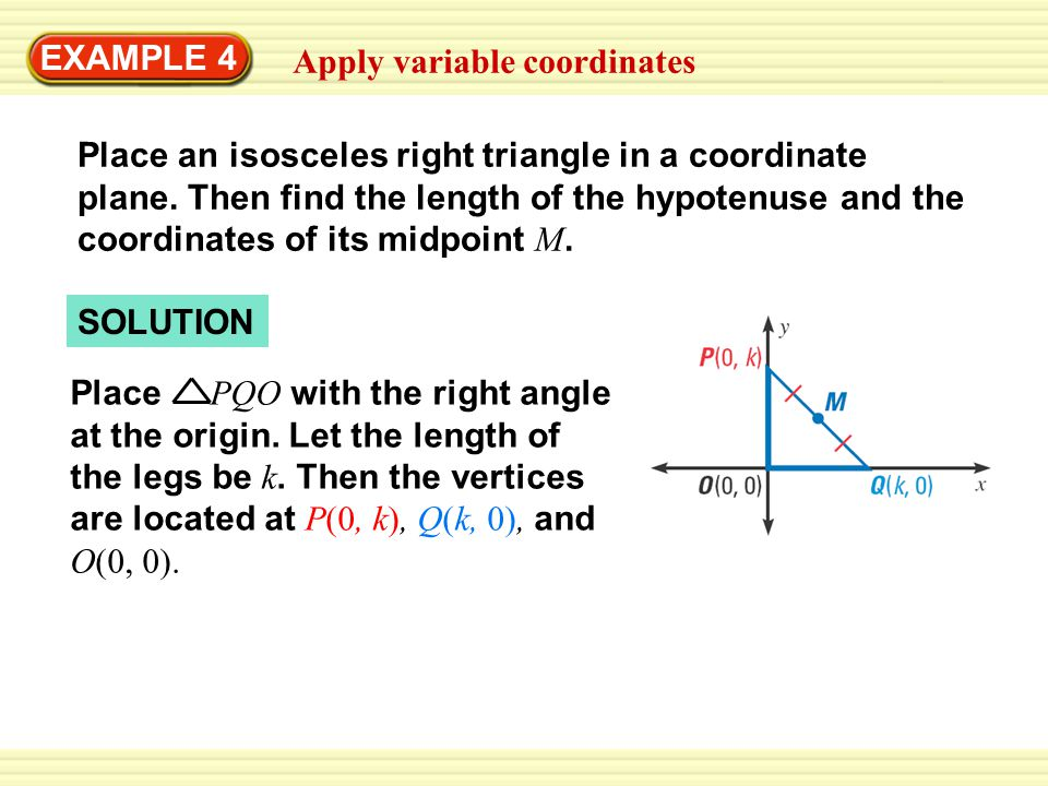 EXAMPLE 4 Apply variable coordinates.