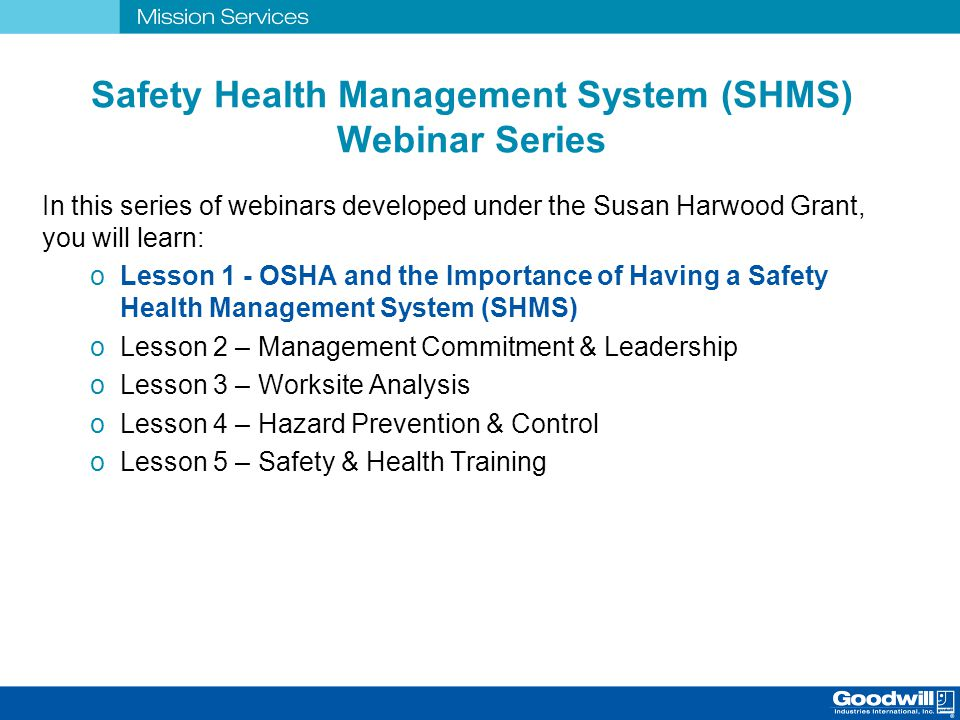 Safety & Health Management System Training - ppt download