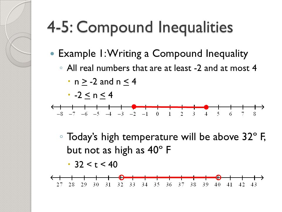 how to write all real numbers in inequality notation