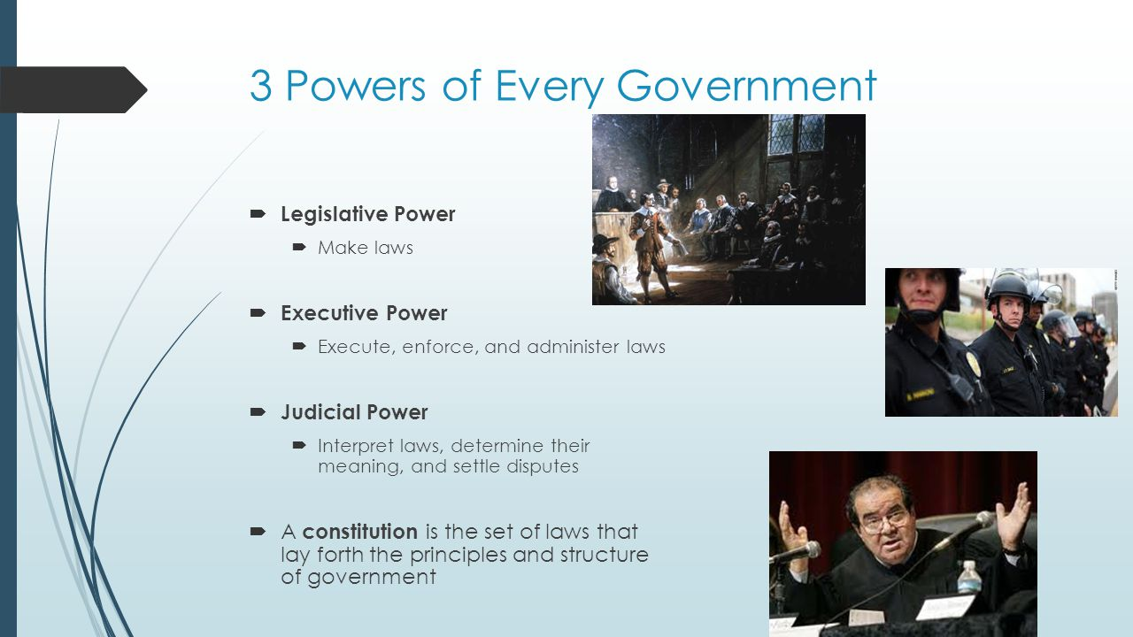 3 Powers of Every Government
