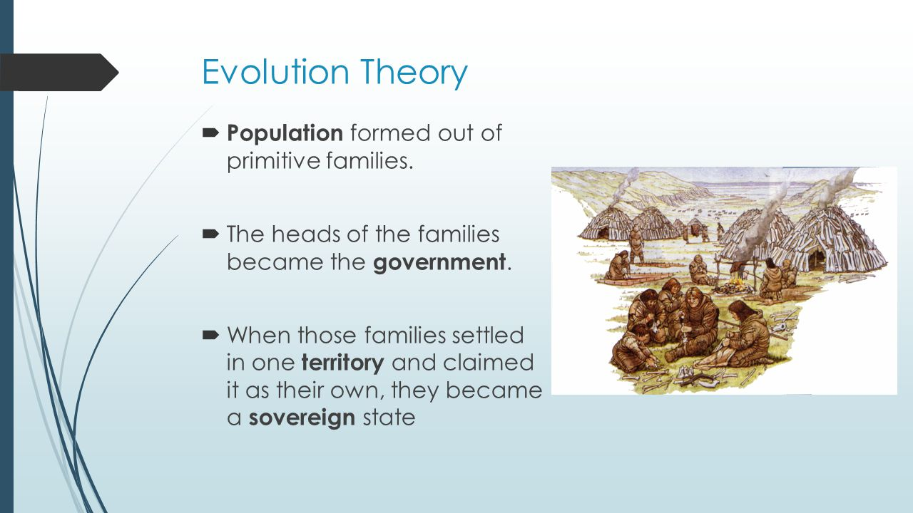 Evolution Theory Population formed out of primitive families.
